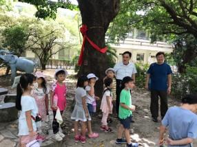 山佳國小許校長親自導覽生態教育3